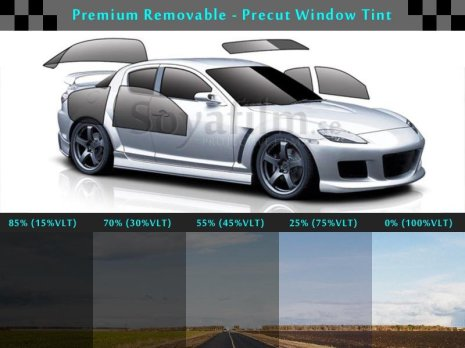 Solar film (Removable) for 2 front doors 25%